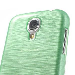 Gelový kryt s broušeným vzorem na Samsung Galaxy S4 - azurový - 3
