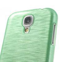 Gelový kryt s broušeným vzorem na Samsung Galaxy S4 - azurový - 3/5