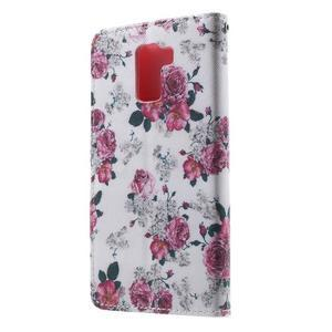 Cross peněženkové pouzdro na Huawei Honor 7 - kytice - 3