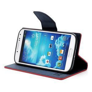 Fancy peněženkové pouzdro na Samsung Galaxy S4 - červené - 3