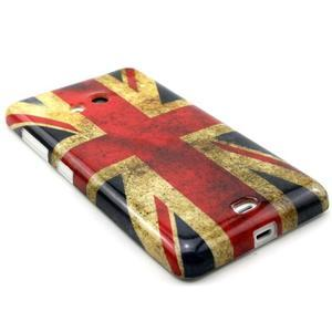 Gelový kryt na Microsoft Lumia 535 - UK vlajka - 3
