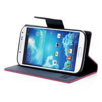 Fancy peněženkové pouzdro na Samsung Galaxy S4 -  rose - 3/7