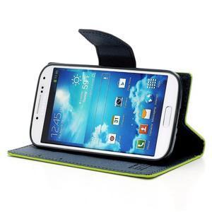 Fancy peněženkové pouzdro na Samsung Galaxy S4 - zelené - 3