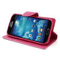 Fancy peněženkové pouzdro na Samsung Galaxy S4 -  růžové - 3/7