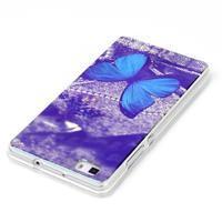 Blu-ray magic gelový obal na Huawei Ascend P8 Lite - modrý motýl - 3/3