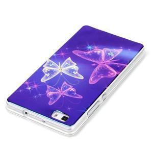 Blu-ray magic gelový obal na Huawei Ascend P8 Lite - kouzelní motýlci - 3