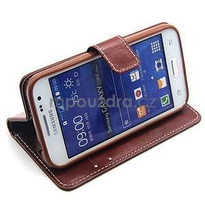 Hnědé pouzdro na Samgung Galaxy Core Prime - 3