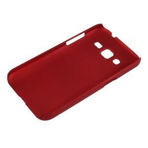 Pogumový plastový obal na Samsung Galaxy Core Prime - červený - 3