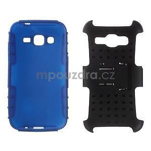 Extrémně odolný obal se stojánkem na Samsung Galaxy Core Prime - modrý - 3