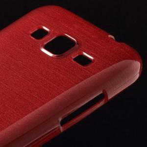 Broušený gelový kryt na Samsung Galaxy Core Prime - červený - 3