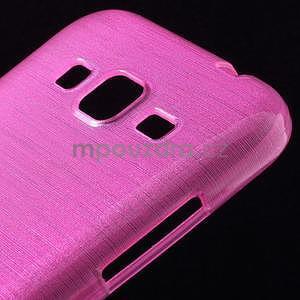 Broušený gelový kryt na Samsung Galaxy Core Prime - rose - 3