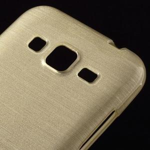 Broušený gelový kryt na Samsung Galaxy Core Prime - zlatý - 3