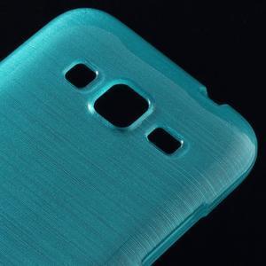 Broušený gelový kryt na Samsung Galaxy Core Prime - tyrkysový - 3
