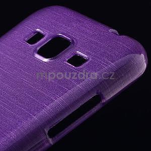 Broušený gelový kryt na Samsung Galaxy Core Prime - fialový - 3