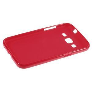 Lesklý gelový obal na Samsung Galaxy Core Prime - červený - 3
