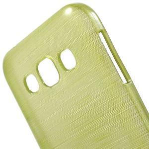 Broušené gelový kryt na Samsung Galaxy E5 - okrový - 3