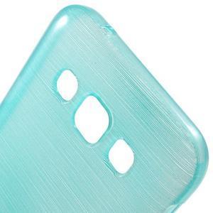 Broušené gelový kryt na Samsung Galaxy E5 - tyrkysový - 3