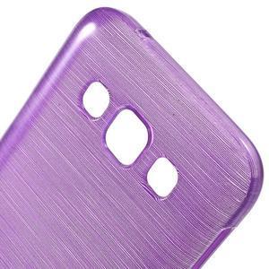 Broušené gelový kryt na Samsung Galaxy E5 - fialový - 3
