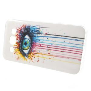 Gelový obal na mobil Samsung Galaxy E5 - barevné oko - 3
