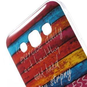 Gelový obal na mobil Samsung Galaxy E5 - barevné desky - 3