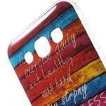 Gelový obal na mobil Samsung Galaxy E5 - barevné desky - 3/5
