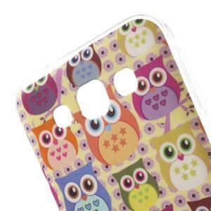 Gelový obal na mobil Samsung Galaxy E5 - sovičky - 3