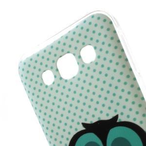 Gelový obal na mobil Samsung Galaxy E5 - sova - 3