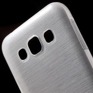 Broušené gelový kryt na Samsung Galaxy E5 - bílý - 3