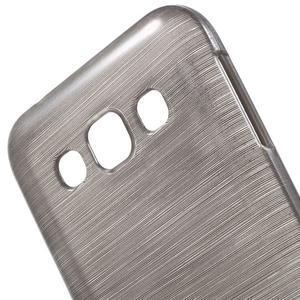 Broušené gelový kryt na Samsung Galaxy E5 - šedý - 3