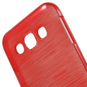 Broušené gelový kryt na Samsung Galaxy E5 - červený - 3