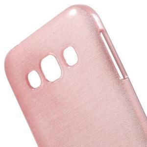 Broušené gelový kryt na Samsung Galaxy E5 - růžový - 3