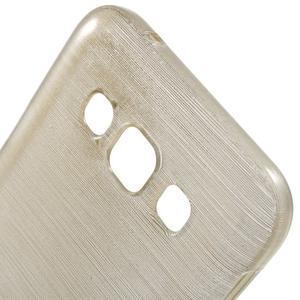 Broušené gelový kryt na Samsung Galaxy E5 - champagne - 3