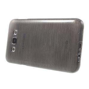 Broušený gelový obal pro Samsung Galaxy E7 - šedý - 3