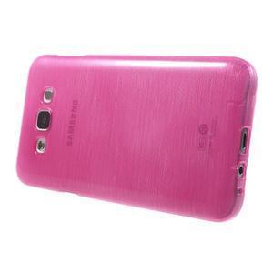 Broušený gelový obal pro Samsung Galaxy E7 - rose - 3