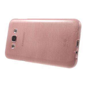 Broušený gelový obal pro Samsung Galaxy E7 - růžový - 3