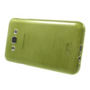Broušený gelový obal pro Samsung Galaxy E7 - zelený - 3