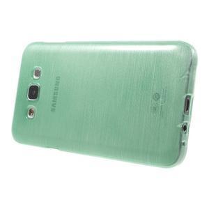 Broušený gelový obal pro Samsung Galaxy E7 - cyan - 3