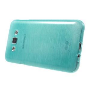Broušený gelový obal pro Samsung Galaxy E7 - tyrkysový - 3