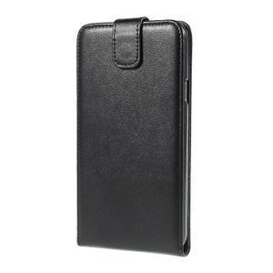 Černé flipové PU kožené pouzdro na Samsung Galaxy E7 - 3
