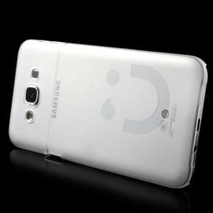 Plastový kryt na mobil Samsung Galaxy E7 - transparentní - 3