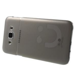 Plastový kryt na mobil Samsung Galaxy E7 - šedý - 3