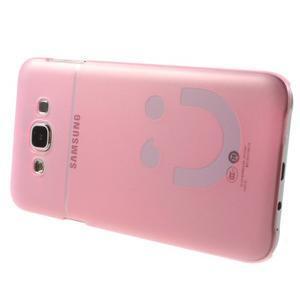 Plastový kryt na mobil Samsung Galaxy E7 - růžový - 3