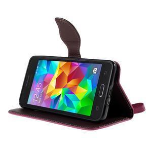 Rose/hnědé zapínací peněženkové pouzdro na Samsung Galaxy Grand Prime - 3