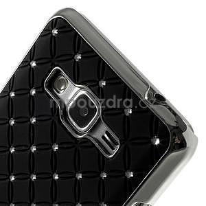 Černý drahokamový kryt na Samsung Grand Prime - 3