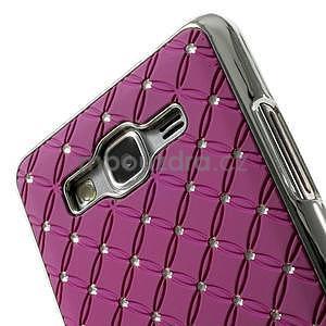 Fialový drahokamový kryt na Samsung Grand Prime - 3