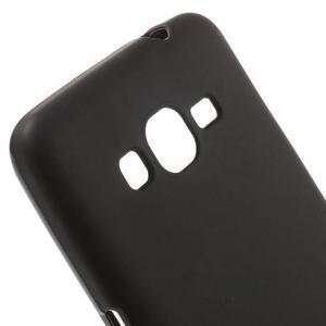 Černý matný gelový obal pro Samsung Galaxy Grand Prime - 3