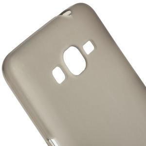 Šedý matný gelový obal pro Samsung Galaxy Grand Prime - 3