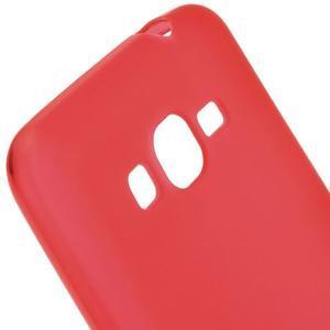 Červený matný gelový obal pro Samsung Galaxy Grand Prime - 3