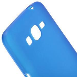 Modrý matný gelový obal pro Samsung Galaxy Grand Prime - 3