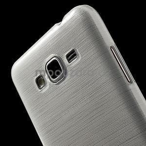 Broušený gelový obal pro Samsung Galaxy Grand Prime -  bílý - 3